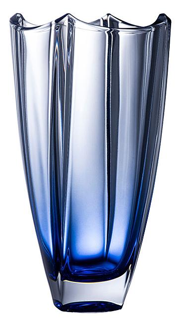 "Galway Sapphire Dune 12"" Square Vase"