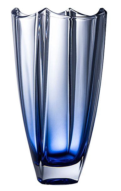 "Galway Sapphire Dune 10"" Square Vase"