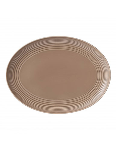 Royal Doulton China Gordon Ramsay Maze Taupe Oval Platter