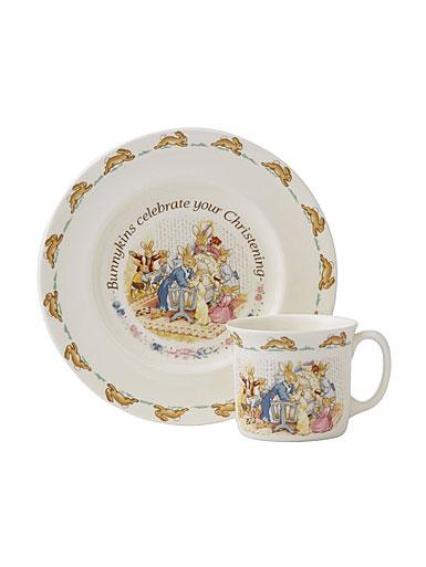 Royal Doulton Bunnykins Christening Set, Plate and Mug