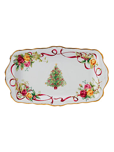 Royal Albert Old Country Roses Christmas Tree Boxed Sandwich Tray