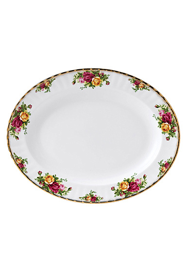 """Royal Albert Old Country Roses Oval Platter 13"""""""