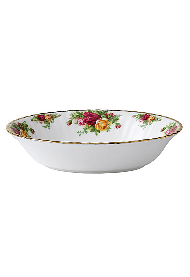 """Royal Albert Old Country Roses Open Vegetable Bowl 7.3"""" 32 Oz"""