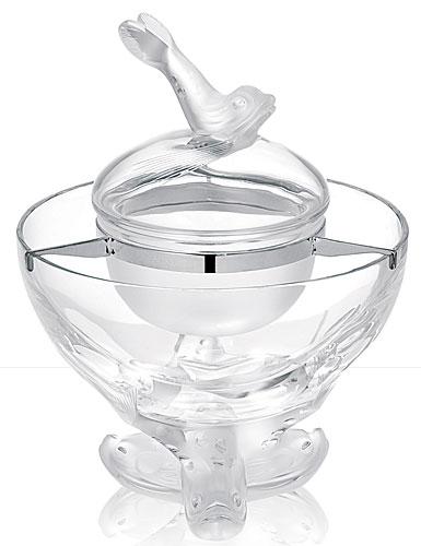 Lalique Igor Caviar Bowl, Chrome