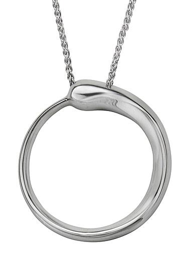 Nambe Jewelry Silver Circle Pendant