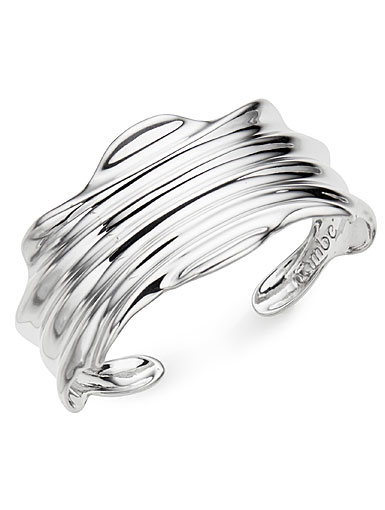Nambe Jewelry Silver Oceana Cuff Bracelet