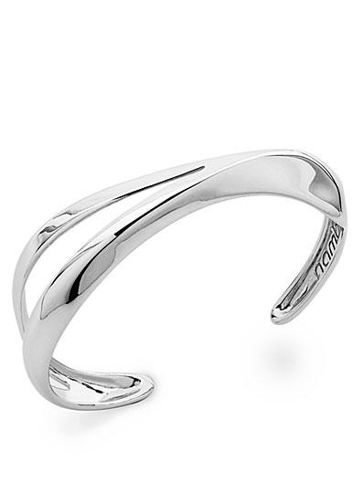 Nambe Jewelry Silver Split Peak Cuff Bracelet