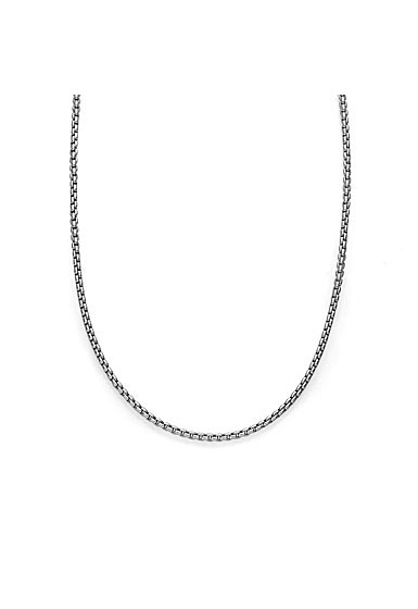 """Nambe Men's Jewelry Sterling Silver 2.5mm Round Box Chain 24"""""""