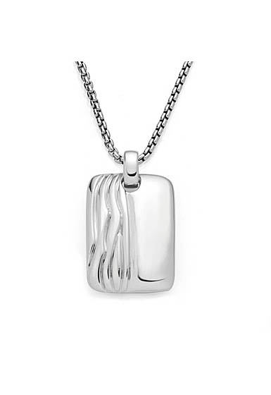 Nambe Men's Jewelry Ripples Dog Tag Pendant