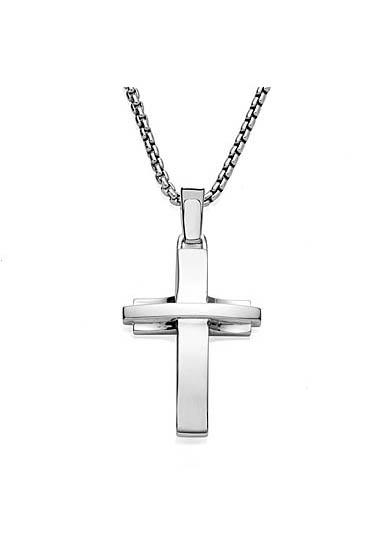 Nambe Men's Jewelry Streamlined Cross Pendant