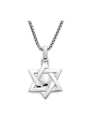 Nambe Men's Jewelry Star of David Pendant