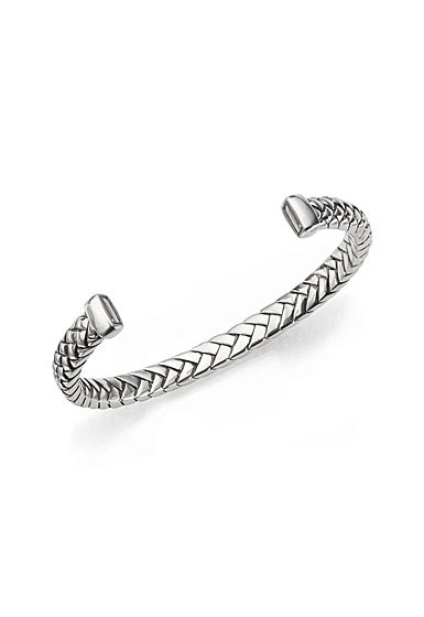 Nambe Men's Jewelry Braid Cuff Bracelet
