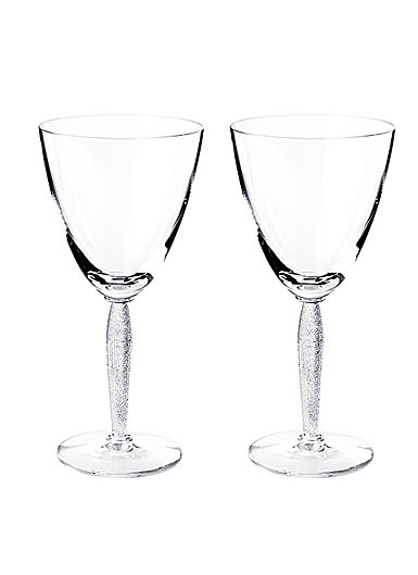 Lalique Louvre Water Glasses, Pair