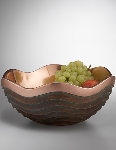 Nambe Metal Copper Canyon 13in bowl