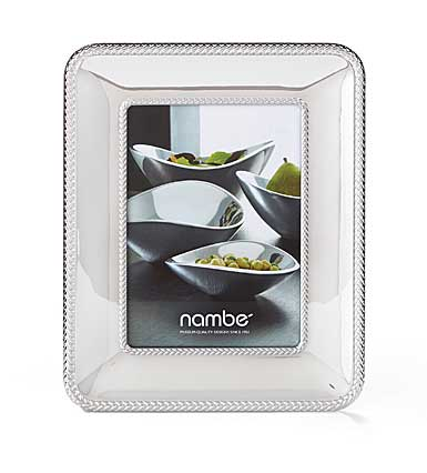 "Nambe Metal Braid 5x7"" Picture Frame"