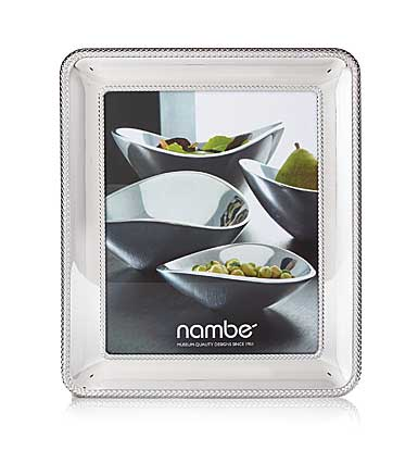 "Nambe Metal Braid 8x10"" Picture Frame"