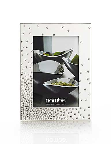 "Nambe Metal Dazzle 4x6"" Picture Frame"