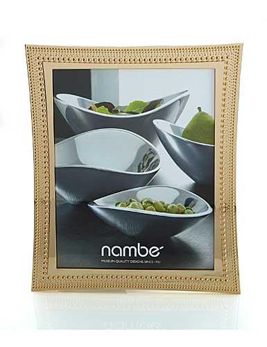 """Nambe Metal Beaded Gold 8x10"""" Frame"""