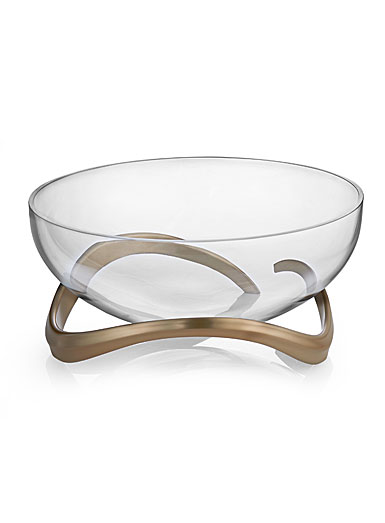 Nambe Eco Crystal Centerpiece Crystal Bowl
