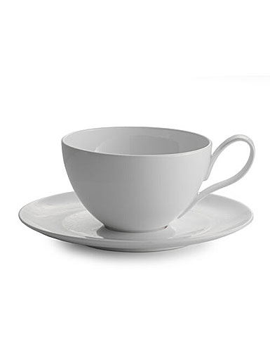 Nambe China Skye Cafe Au Lait Cup and Saucer Set