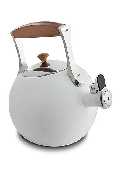 Nambe Metal Gourmet Meridian Tea Kettle, White