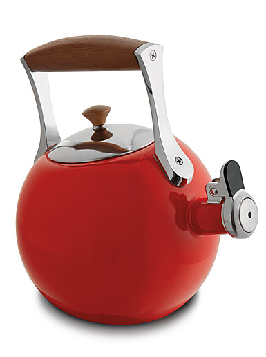 Nambe Metal Gourmet Meridian Tea Kettle, Red