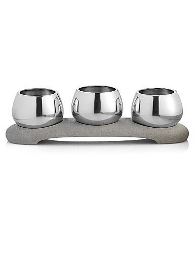 Nambe Metal Forte Condiment Trio Bowls