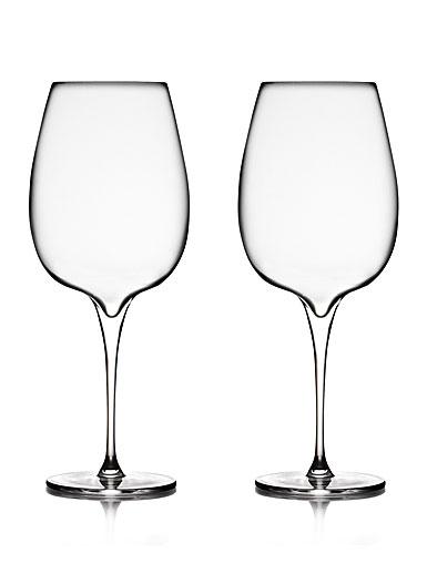 Nambe Vie Cabernet Merlot Wine Glasses, Pair