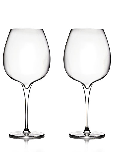 Nambe Vie Pinot Noir Wine Glasses, Pair