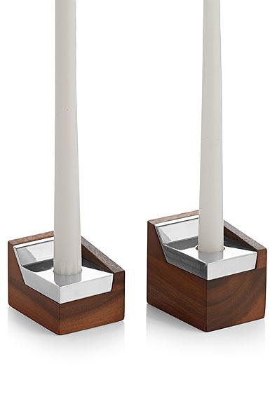 Nambe Geo Sabbath Candlesticks