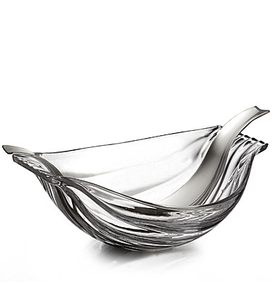 Nambe Drift Glass Salad Bowl with Servers
