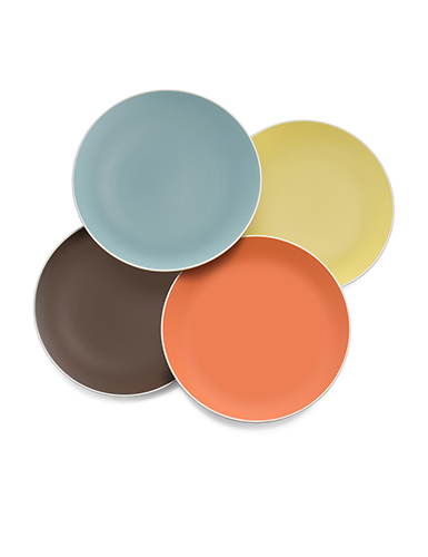 Nambe Pop Colours Accent Plates, Set of 4