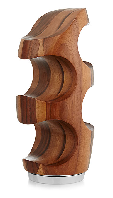 Nambe Metal and Wood Vie Wine Rack