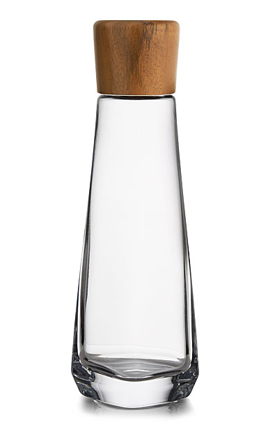 "Nambe Crystal and Wood Vie 12"" Decanter"