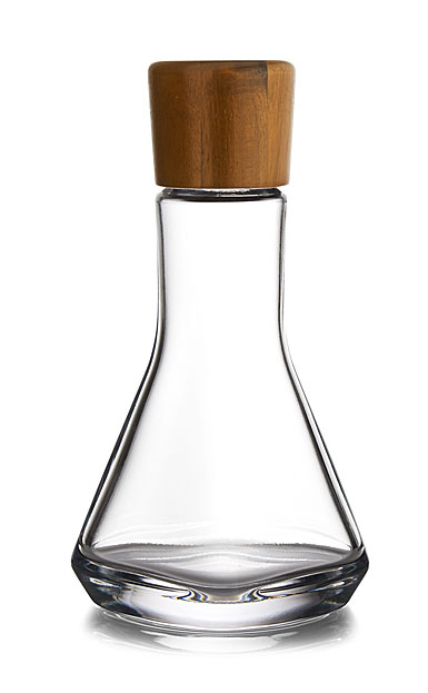 "Nambe Crystal and Wood Vie 10"" Decanter"