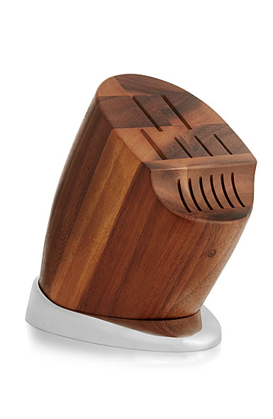 Nambe Metal and Wood Breeze Knife Block