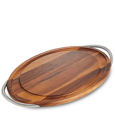 Nambe Braid Carving Board with Handles