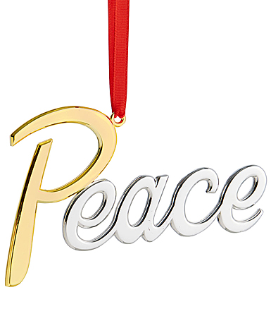Nambe Peace Christmas Ornament