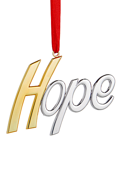 Nambe Hope Christmas Ornament