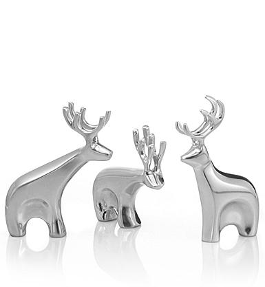 Nambe Christmas Mini Dasher Reindeer Set