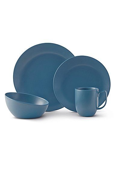 Nambe Orbit 4 Piece Place Setting Aurora Blue
