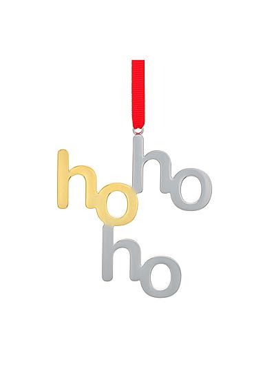 Nambe Ho Ho Ho Christmas Ornament