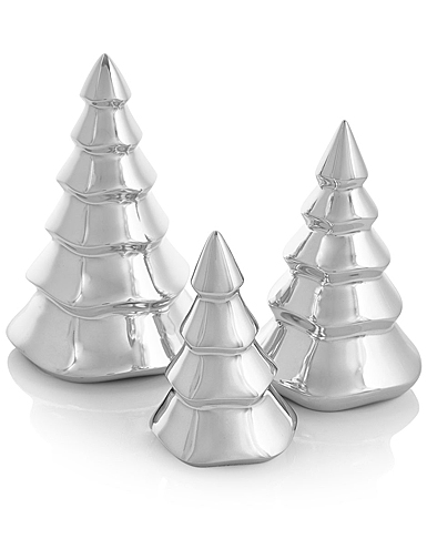 Nambe Mini Christmas Tree Trio