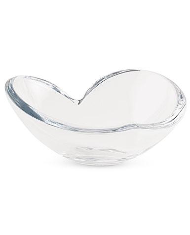 Nambe Large Heart Glass Bowl