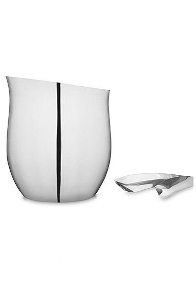Nambe Metal Curvo Ice Bucket with Tongs