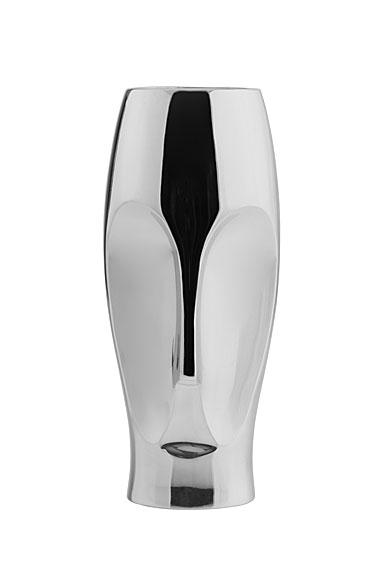 Nambe Metal Face Vase, Small