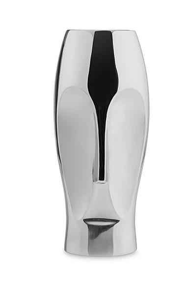 Nambe Metal Face Vase, Large