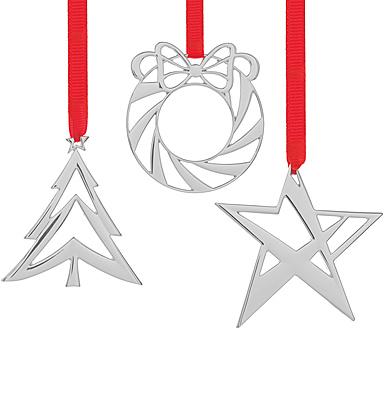 Nambe Metal Mini Set 2021 Ornaments, Set of Three