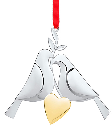 Nambe Metal Twelve Days of Christmas 2021 Ornament, Two Turtle Doves