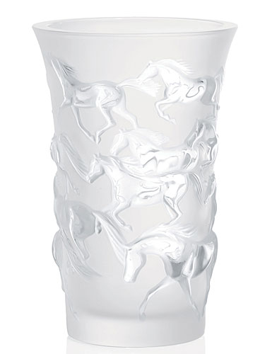 Lalique Mustang Vase